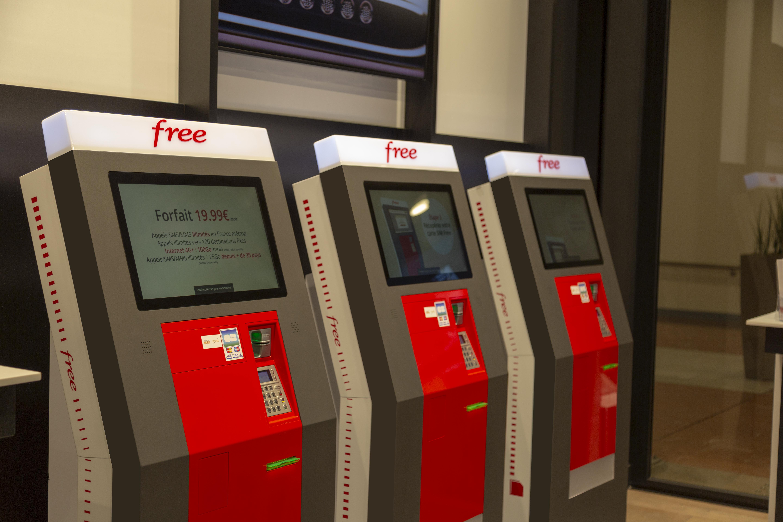 carte free borne interactive Les bornes Free Mobile, votre abonnement en 3 minutes   Portail Free