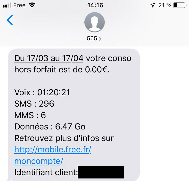 consulter solde forfait free 2 euros